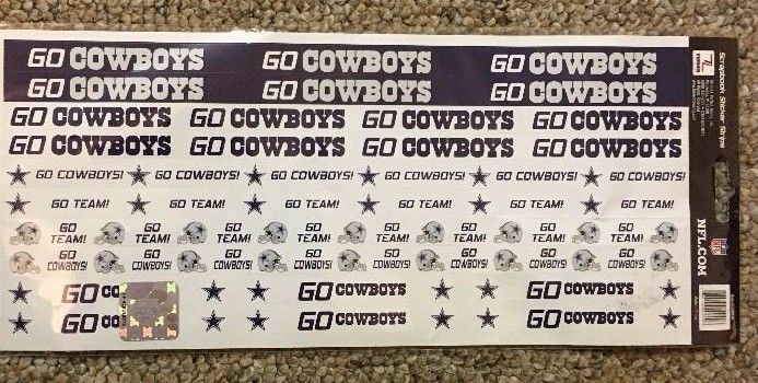 DALLAS COWBOYS Stickers Team NFL Licensed Scrapbook 48 Football Sport   #NFL #DallasCowboys