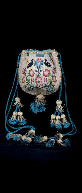 Drawstring purse, ca. 1700