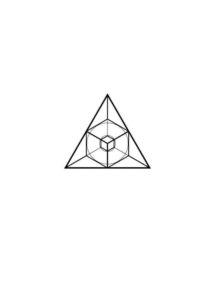Geometric linework blackwork design