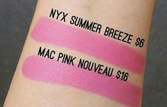 13. MAC Pink Nouveau & NYX Summer Breeze | Splurge Or Save: The Best MAC Lipstick Drugstore Makeup Dupes