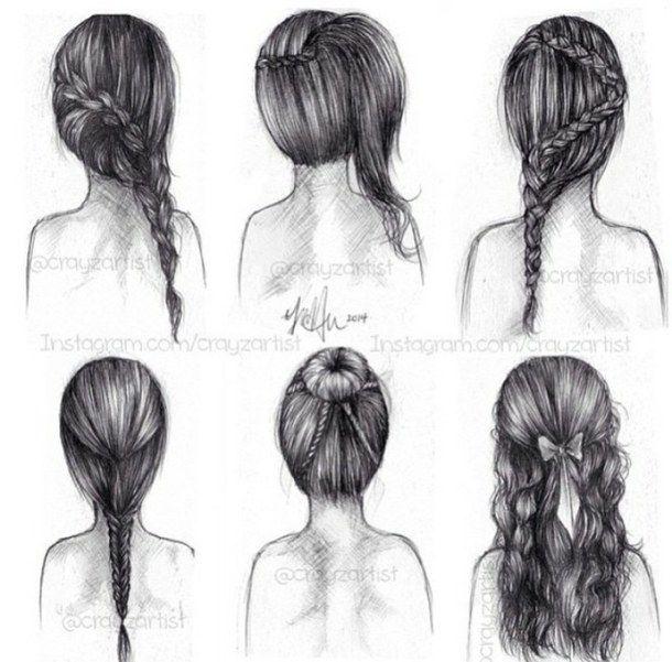 art, back, braid, bun, draw, drawing, drawings, draws ...