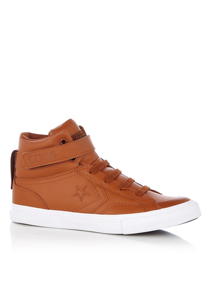 klassieke Converse  Pro Blaze Strap sneaker van leer (bruin)