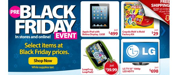 Aggressive Walmart Pre Black Friday Event Launched at 8am CT Online