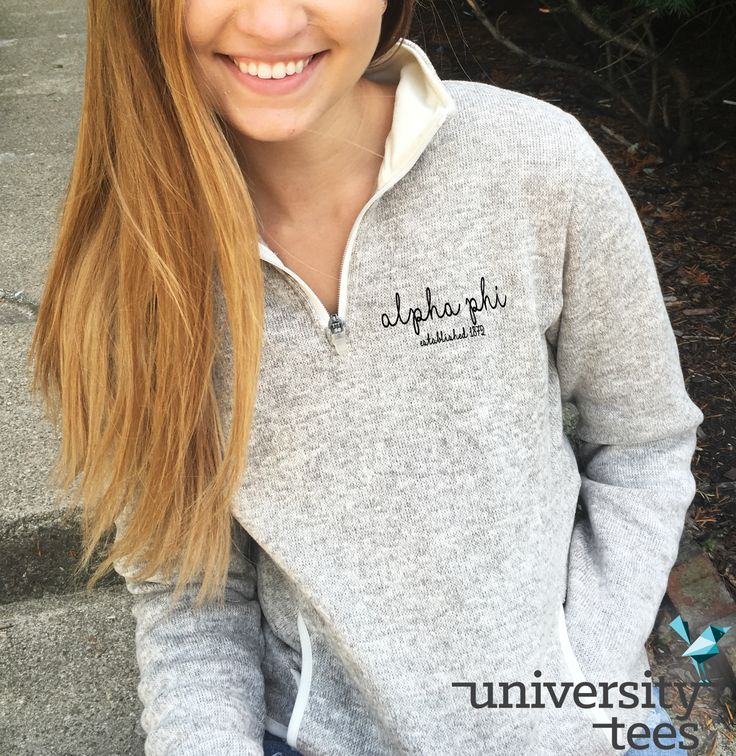 adorbs embroidered 1/4 zip   Alpha Phi   Made by University Tees   universitytees.com