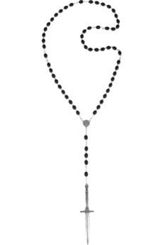 Pamela Love | Silver-plated dagger and resin necklace | NET-A-PORTER.COM - StyleSays