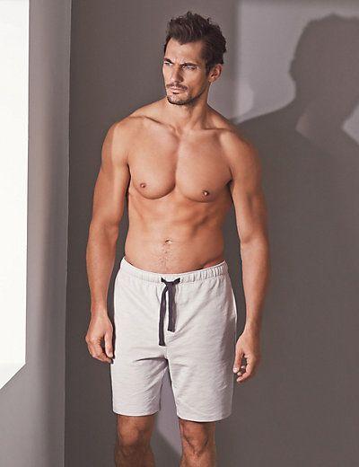 Supima® Cotton Slim Fit Slub Sweat Pyjama Shorts   M&S