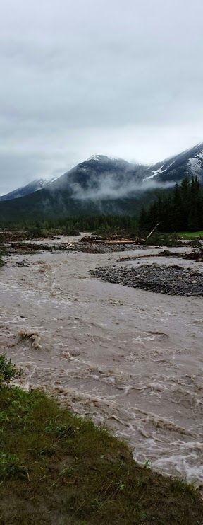 After the floods in Alberta, Canada Photo taken 07-29-2013