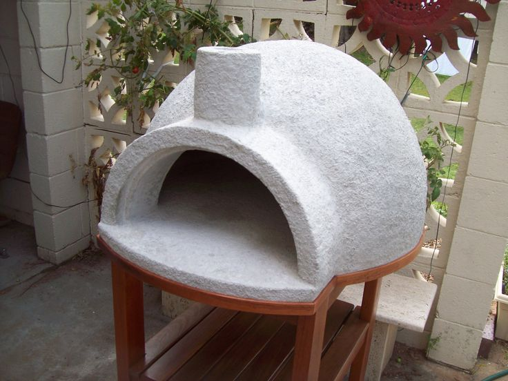 Pizza Oven Cast On Gym Ball Using Pumice Concrete Or