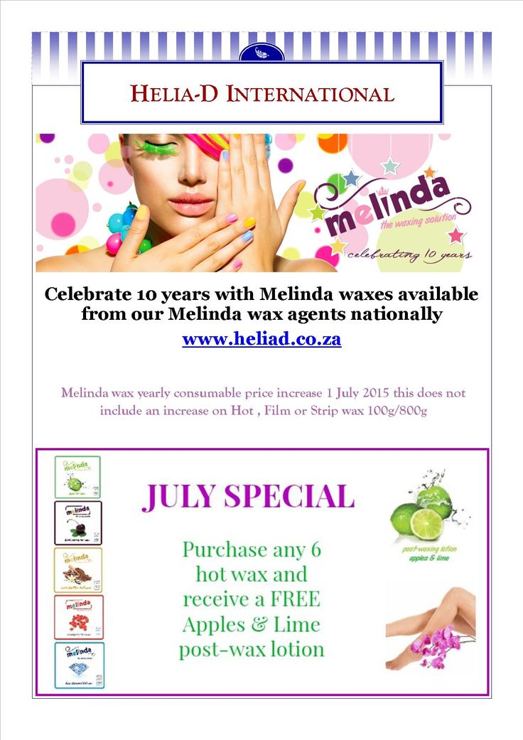 Melinda July Special , keeping you warm this winter with so hot wax and Apples and lime post lotion cream