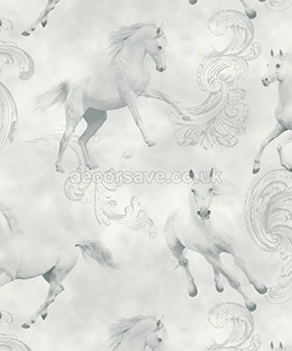 Arthouse Imagine Fun Camarillo Grey Wallpaper 667300 - Glitter Childrens Horses Arthouse http://www.amazon.co.uk/dp/B015HKSV7Q/ref=cm_sw_r_pi_dp_4fk1wb00608VY