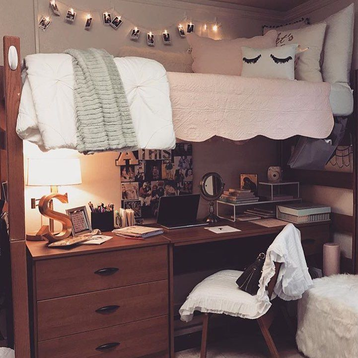 Awesome 60 Stunning and Cute Dorm Room