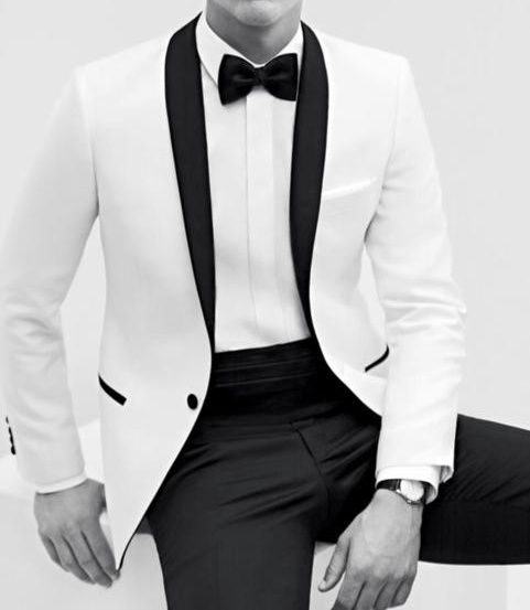 White tux for a special occasion.