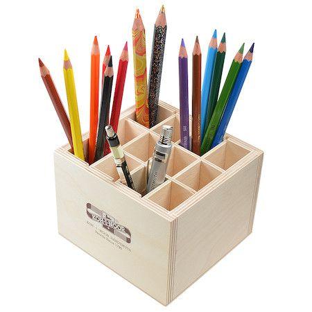 Koh-I-Noor 12 Slot Wooden Pen Pot