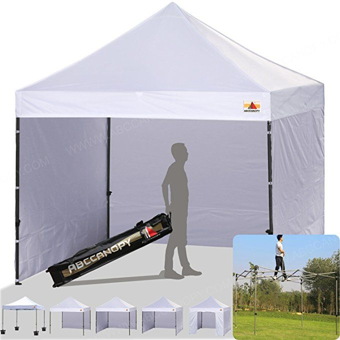 Abccanopy 8 X 8 Ez Pop Up Canopy Tent Commercial Instant Gazebos With 4 Removable Sides And Roller Bag And 4x Wei Pop Up Canopy Tent Carport Canopy Canopy Tent