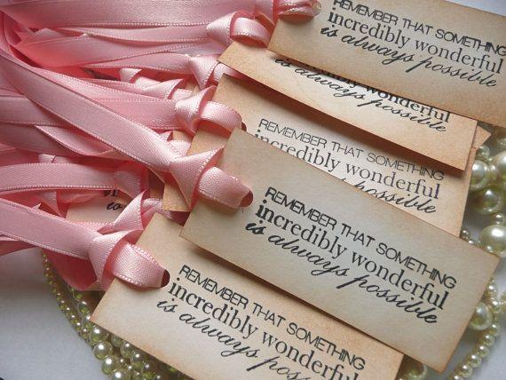 customised wedding favor tags