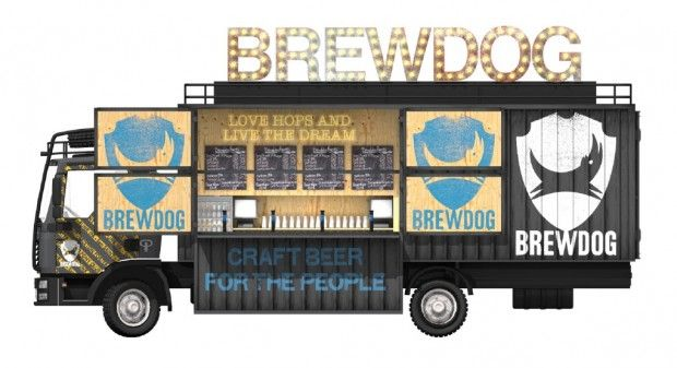 Can't wait to see this out on the road!  BrewDog's Truck.