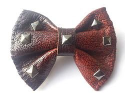 RUST RED handmade bow tie from www.solace-designs.com