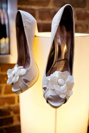 #white #flower #wedding #shoes Real New York Queens Wedding at The Foundry by Laura Pennace Photography on Marry Me Metro, a city wedding blog http://marrymemetro.com | See more about Marry Me, White Flowers and Wedding Blog.