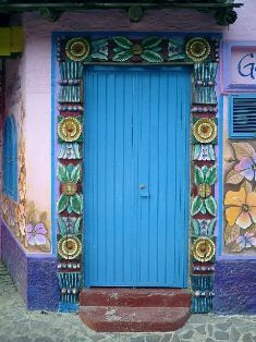Carved and painted door in Ajijic State of Jalisco Mexico. I have been to this city also. Every place i went in Mexico was so beautiful. & 106 best Doors and Windows of Mexico and Beyond! images on Pinterest ...