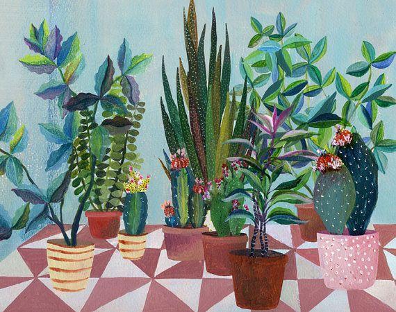 Glicee print- succulent plants illustration