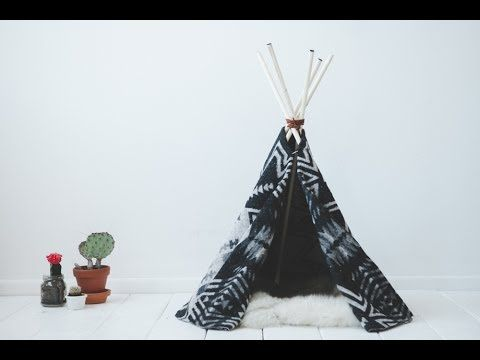 DIY cat tipi !! or for any pet really :) - YouTube