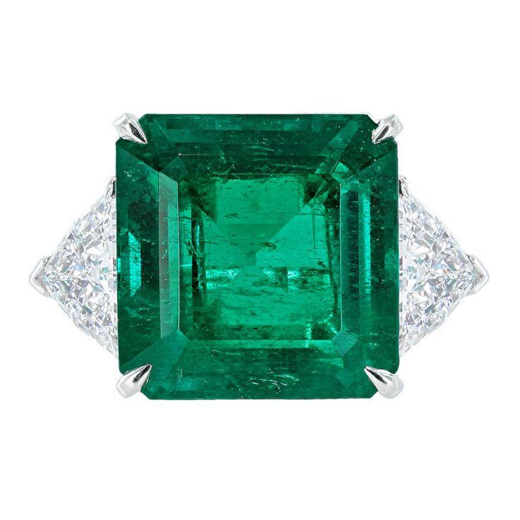 1stdibs.com   Tiffany & Co 11.42 Colombian Emerald and Diamond Ring