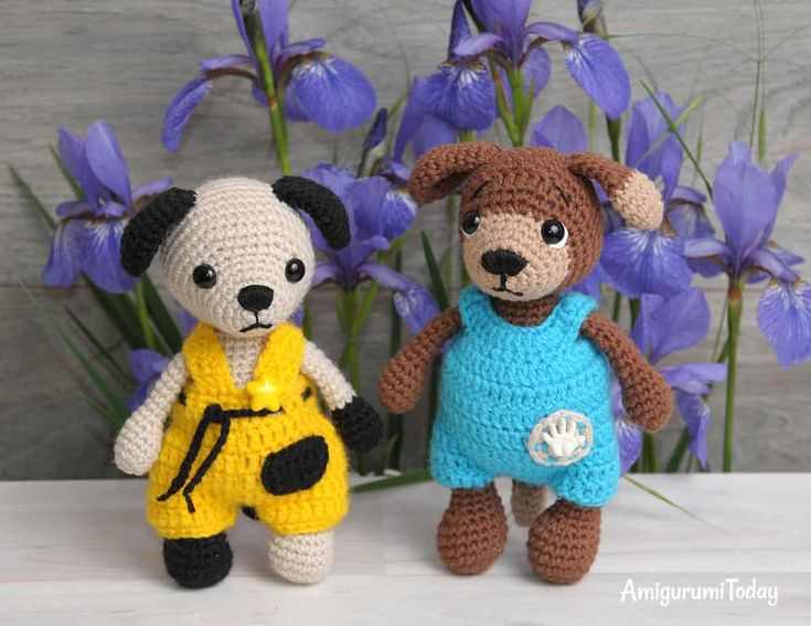 Amigurumi dogs Timmy and Tommy - Free crochet patterns