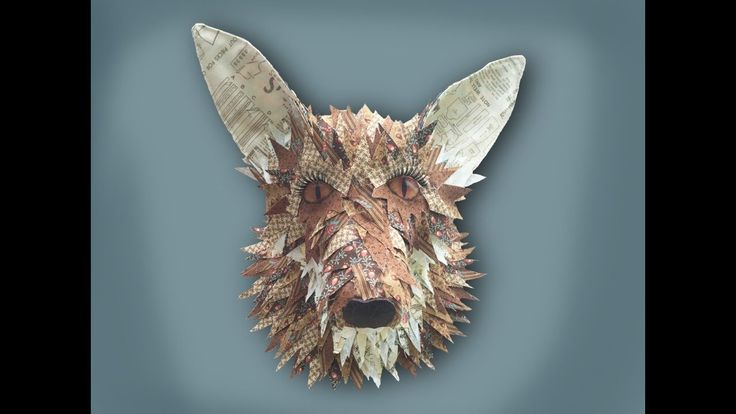 How to make a faux taxidermy fox head - no hand sewing