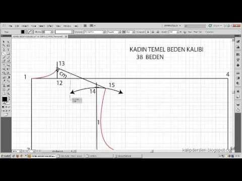 Kadın temel beden kalıbı çizimi /  Drawing of the woman basic body pattern - YouTube