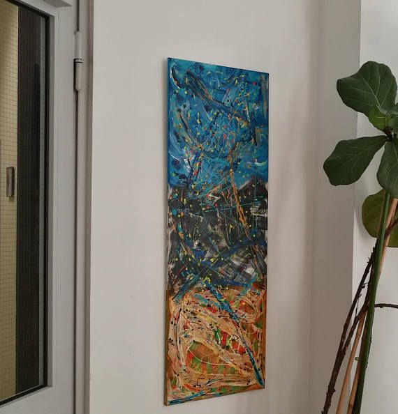 "My ""Elementary Particle"" (""Elementarteilchen"") at the Town Hall of Wachenheim. . . . #acrylic #acrylpainting  #colorful #art  #painting #artist #gallery #artoftheday #abstractart #abstract #creative #pintura  #fineart #mystery #artwork  #decoration  #blue #colors #interiordecor #artlife #handmade #contemporary #pintura #wachenheim #pfalz #homedeco #decor #deco #walldecor #tvoskart  https://www.etsy.com/de/listing/549191020/elementarteilchen-elementary-particle"
