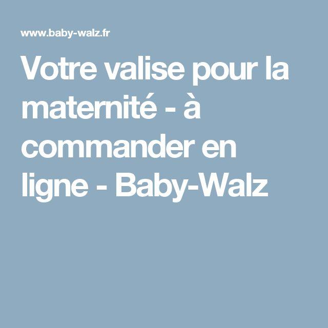 Votre valise pour la maternité - à commander en ligne- Baby-Walz