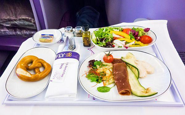 Thai Airways Royal Silk Business Class First Course