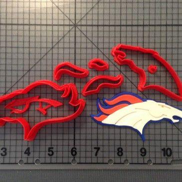 Denver Broncos Cookie Cutter Set