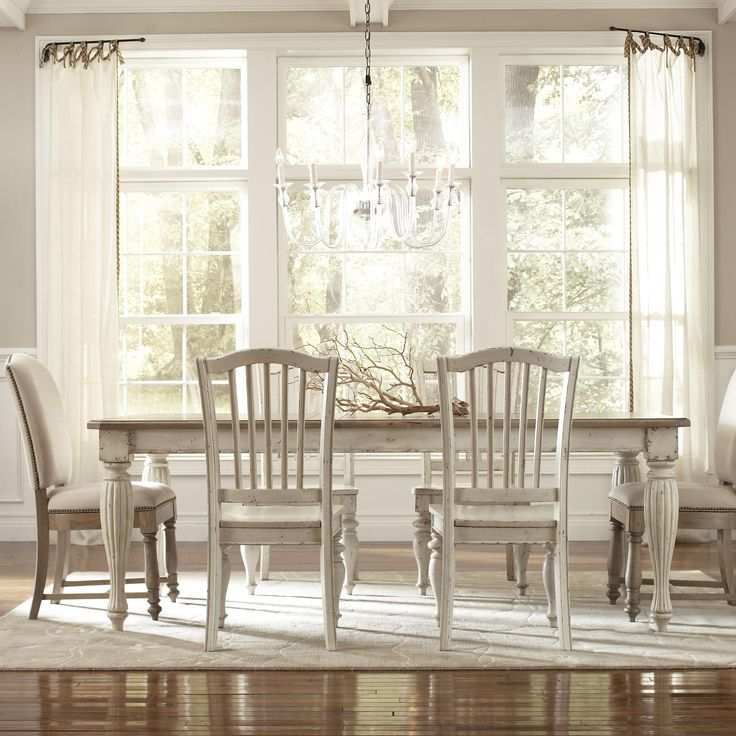 Coventry Two Tone Rectangular Leg Dining Table With 18 Leaf By Riverside  Furniture   Sheelys Furniture Appliance   Dining Room Table Ohio,  Youngstown, ...