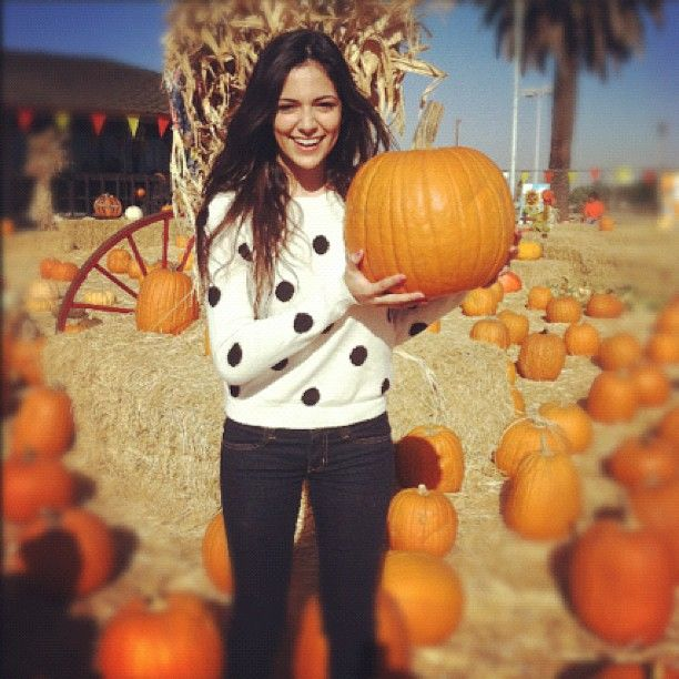 Found the one for me! #loveatfirstsight #pumpkin what should I name it?! Lol  - @Bethany Mota- #webstagram