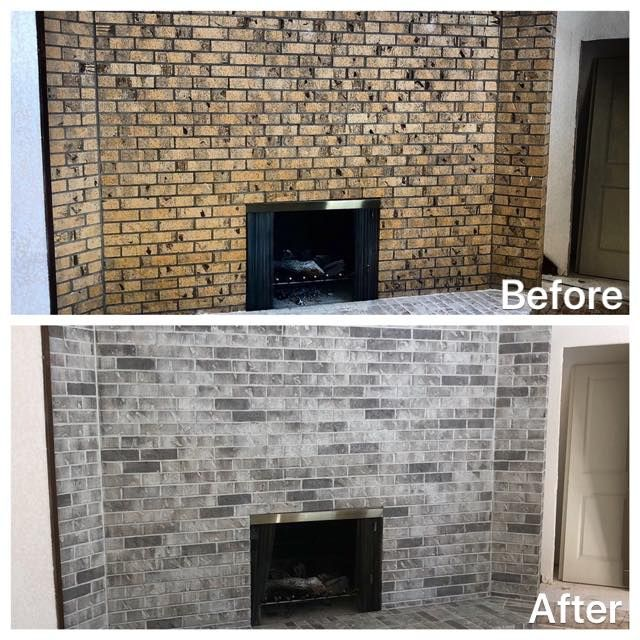 Brick Staining Brick House Exterior Makeover Brick Exterior House Brick Fireplace Remodel