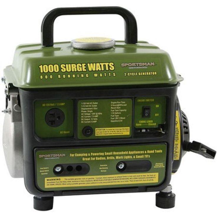 2 Cycle Generator Lightweight Portable 1000 Watt Recoil