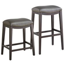 Halsted Pewter Backless Bar & Counter Stool