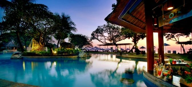 Grand Aston Bali Beach Resort swim up bar bali kids guide