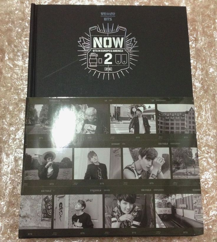 BTS Bangtan Boys Now2 in Europe & America DVD + Photo Book + Cover Poster