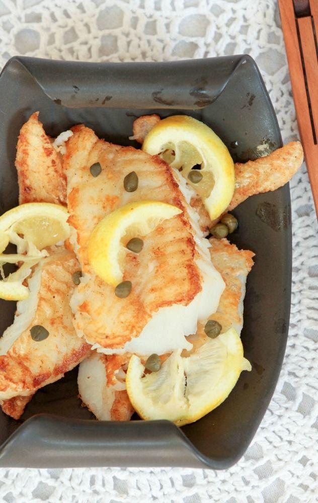 Crispy Cod with Lemon Butter White Wine Sauce