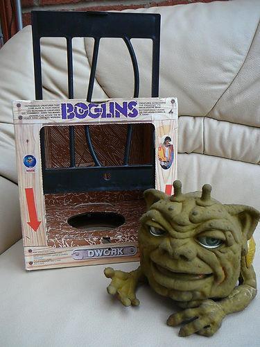 L@@K > VERY RARE BOXED VINTAGE BOGLIN DWORK PUPPET.1988. MATTEL. 80S. VGC. 70S !