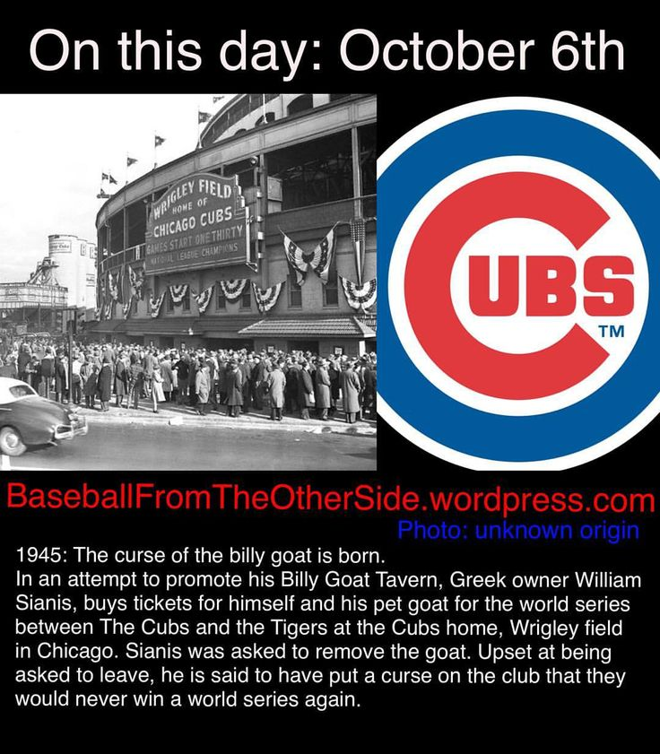 Will 'back to the future II' be right and the Cubs win the 2015 World Series or will the curse of the billy goat continue? #otd #baseball #history #chicago #cubs #postseason #worldseries