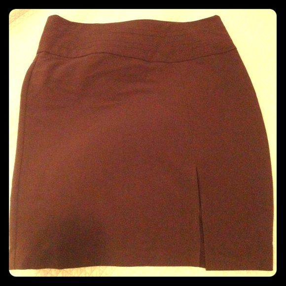 Brown Pencil Skirt, Catch My I Worn once, Brown Pencil Skirt, Slit on front left (not revealing), just too big for me Catch My I Skirts Pencil