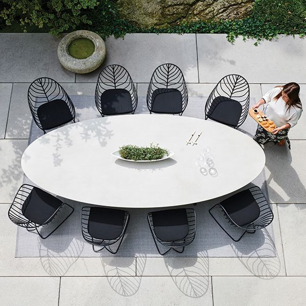 Outdoor Dining Table, Oval Outdoor Dining Table