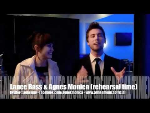 Lance Bass and Agnes Monica
