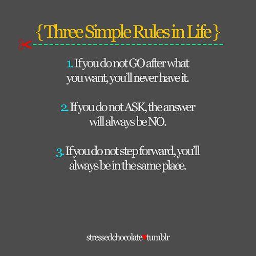 Three Simple Rules <3