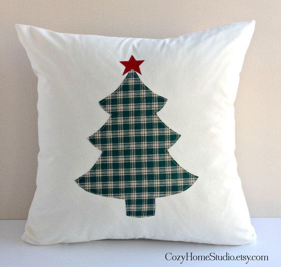 Christmas Pillow Cover  Christmas Tree Pillow  by CozyHomeStudio