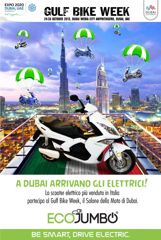 Quest'anno voliamo a Dubai per partecipare al prestigioso Salone della Moto. Continuate a seguirci su Facebook  e sul nostro sito!