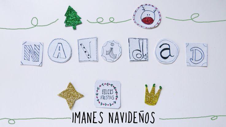 Adornos de Navidad reciclados. Imanes navideños DIY